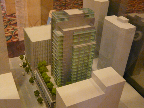 Model of the new Coast Plaza Hotel in Coal Harbour