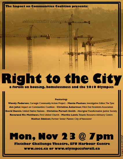 the right to the city poster