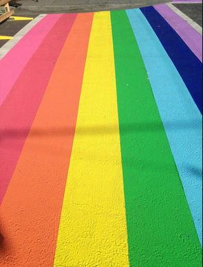 New rainbow cross walks at Davie and Bute. Photo by Emily Jackson